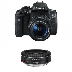 CANON EOS 750D + 18-55 IS STM + 40mm STM GARANTI 3 ans