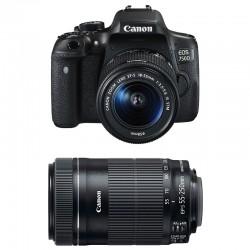 CANON EOS 750D + 18-55 IS STM + 55-250 IS STM GARANTI 3 ans