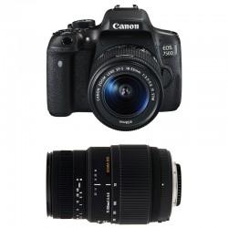 CANON EOS 750D + 18-55 IS STM + SIGMA 70-300 DG MACRO GARANTI 3 ans