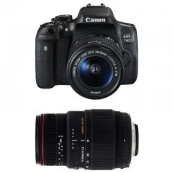 CANON EOS 750D + 18-55 IS STM + SIGMA 70-300 DG APO MACRO GARANTI 3 ans