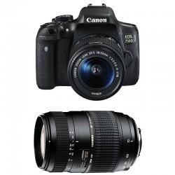 CANON EOS 750D + 18-55 IS STM + TAMRON 70-300 DI GARANTI 3 ans