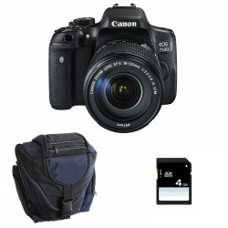 CANON EOS 750D + 18-135 IS STM GARANTI 3 ans + Sac + SD 4Go