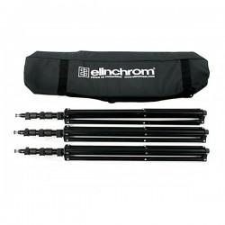 ELINCHROM KIT B de 3 trépieds avec sac