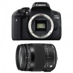 CANON EOS 750D + SIGMA 18-200 OS HSM Contemporary GARANTI 3 ans