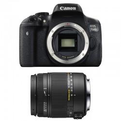 CANON EOS 750D + SIGMA 18-250 F3.5-6.3 DC MACRO OS GARANTI 3 ans