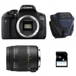 CANON EOS 750D + SIGMA 18-250 F3.5-6.3 DC MACRO OS GARANTI 3 ans + Sac + SD 4Go