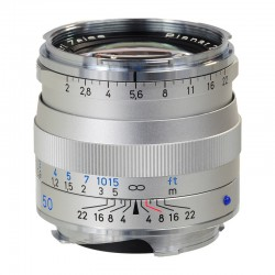 ZEISS Objectif Plannar T* 50 mm f/2 ZM Argent monture LEICA
