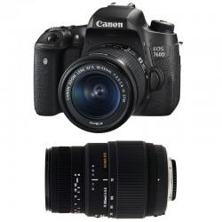 CANON EOS 760D + 18-55 IS STM + SIGMA 70-300 DG MACRO GARANTI 3 ans