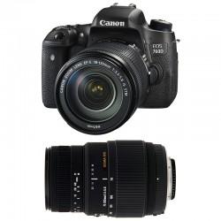 CANON EOS 760D + 18-135 IS STM + SIGMA 70-300 DG MACRO GARANTI 3 ans