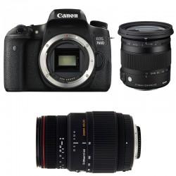 CANON EOS 760D + SIGMA 17-70 Contemporary + SIGMA 70-300 DG APO MACRO GARANTI 3 ans