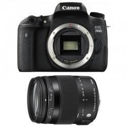 CANON EOS 760D + SIGMA 18-200 Contemporary GARANTI 3 ans